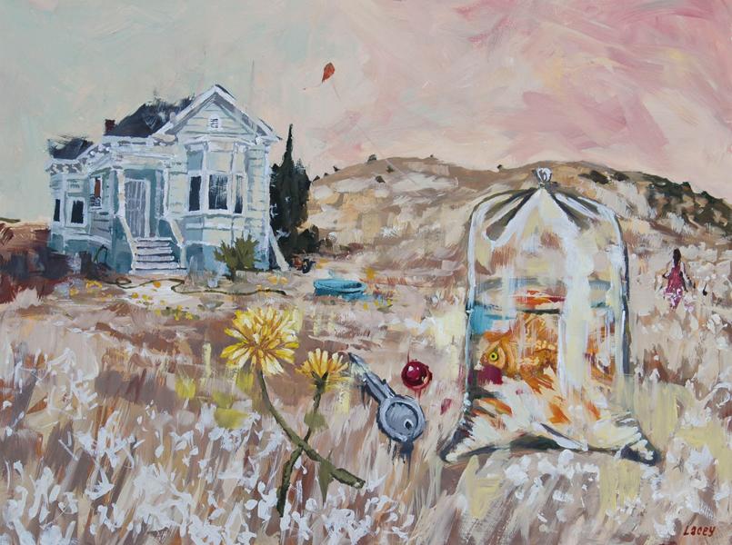 "Tall Grasses  oil on panel 8""x10"""